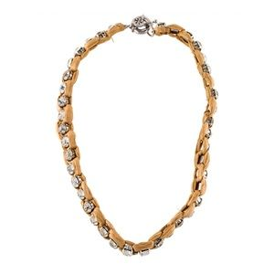 TORY BURCH • Exotic Crystal Raffia Necklace